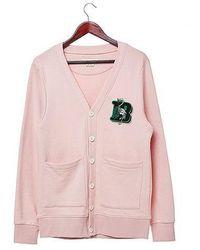 Beyond Closet - Flamingo B Logo Cardigan Indi Pink - Lyst