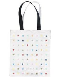 W Concept - Multi Star Tote Bag Navy - Lyst