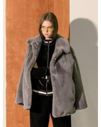 COLLABOTORY - B7cmf2002m Fake Fur Half Coat - Lyst