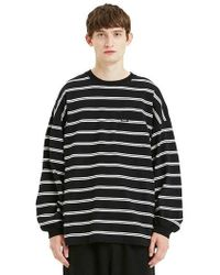 LIFUL MINIMAL GARMENTS - Minimal Striped Long Sleeve Black - Lyst
