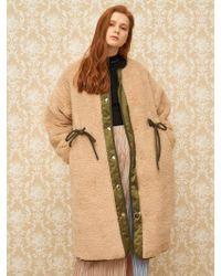 1159 STUDIOS - Mh8 Dumble Long Coat Beige - Lyst