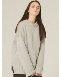 W Concept - [unisex] Heavy Pullover Knit Light Gray - Lyst