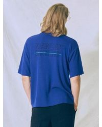 MIGNONNEUF - Graphic Knit T Shirt Blue - Lyst