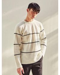 LIUNICK - Raglan Stripe Lip Sweater Ivory - Lyst