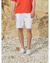 AECA WHITE Adoy Jersey Shorts_white