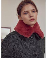 W Concept - Faux Fur Collar Warmer_pk - Lyst