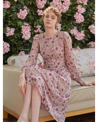 YAN13 - Floral See-through Dress Indie Pink - Lyst