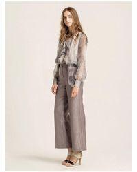 W Concept - Stitched Wide-leg Pants - Lyst