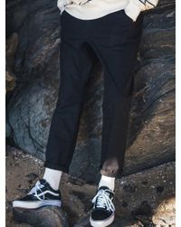 F.ILLUMINATE - [unisex] Normal Slub Cotton Pants-black - Lyst