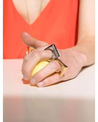 VIOLLINA - Square Inner Twisted Ring Silver - Lyst