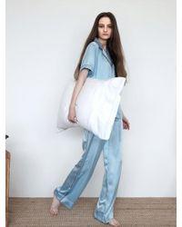 W Concept - Pastel Long Pj Trousers - Misty Sky - Lyst