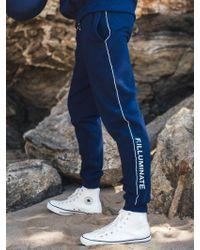 F.ILLUMINATE - [unisex] Line Point Training Pants Navy - Lyst