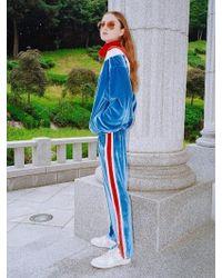 CLUT STUDIO - 0 3 Velvet Lining Track Pants - Sky Blue - Lyst
