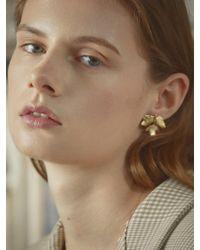 W Concept - Leaf Shape Earring - Lyst
