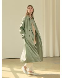 COLLABOTORY - Bbama1002m Glossy Soft Trench Coat_3color - Lyst