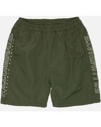 F.ILLUMINATE - [unisex] Side Vertical Logo Shorts Khaki - Lyst