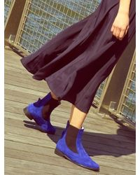 Wite - D05 - Cobalt Blue Suade Chelsea Boots - Lyst
