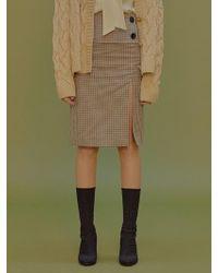 Margarin Fingers - Check Button Skirt - Lyst