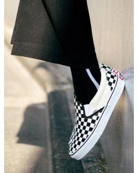 W Concept - [unisex] Unisex Side Line Socks Aaa052u Black White - Lyst