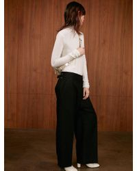 AEER - Trousers Stripe Wide D Belt Wool Black - Lyst
