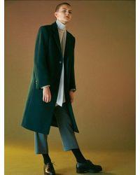 Bouton - Slim Wool Slacks -khaki - Lyst