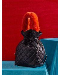 UNDER82 - Alice Leather Pouch Orange - Lyst
