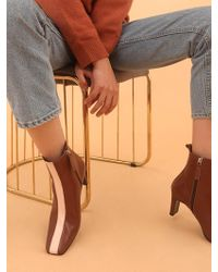 W Concept - Mrc043 Line Boots_brown-pink Line - Lyst
