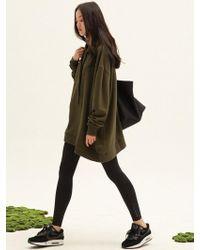 W Concept - Welding Zip Hood Sweatdress - Lyst