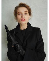W Concept - Sheepskin Gloves Black - Lyst