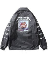 SAINTPAIN - [unisex] Sp Getlike Coach Jacket Charcoal - Lyst