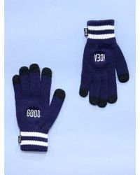 W Concept - Good Idea Smart Gloves Qs Navy - Lyst