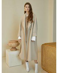 W Concept - Handmade Maxi Coat_ivory - Lyst