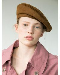 Awesome Needs - [unisex] Classic Beret_wool Brown - Lyst