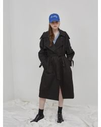 NUISSUE - Oversize Trench Coat_black - Lyst