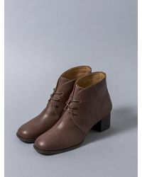 HEENN Lace-up Ankle Boots In Brown
