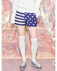 Blank - Dot Mix Shorts-nv - Lyst