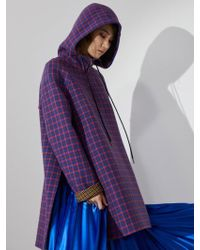 Aheit - Hooded Pullover Handmade Outer Blue - Lyst