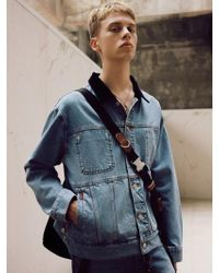 W Concept - [unisex] Inside Out Denim Jacket Awa154u Blue - Lyst