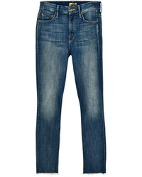 Mother - High Waisted Looker Ankle Fray Not Rough Enough - Lyst