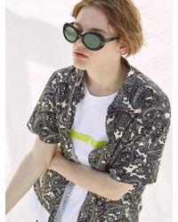 VOIEBIT - V430 Paisley Half-shirt_black - Lyst