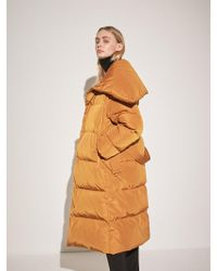 COLLABOTORY - Duck Down Belted Long Padded Parka Camel - Lyst