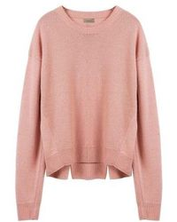 MADGOAT - Back Slit Cashmere Cropped Knit_pink - Lyst