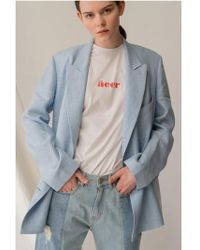 AEER - Denim Semi Loose Fit Two Way Washing Bl - Lyst