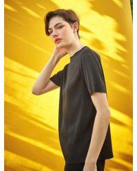 COLLABOTORY - Glossy Basic T-shirt Black - Lyst