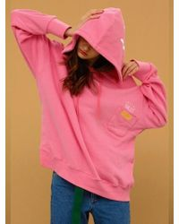 CANLEAP - [unisex] Pocket Over-fit Hoodie Pink - Lyst
