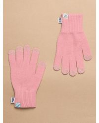 W Concept - Slash Logo Smart Gloves Pink - Lyst