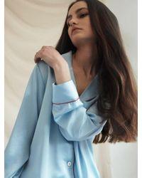 W Concept - Pastel Long Sleeve Pj Shirt - Misty Sky - Lyst