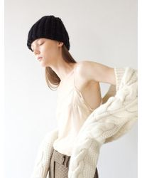 Awesome Needs - Hand Made Lambs Wool Knit Beanie_black - Lyst