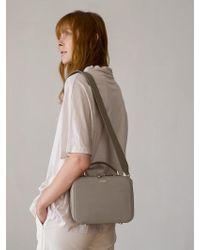 DEMERIEL - Box Bag Stone-beige - Lyst