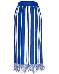 MOIMOII - Fringe Knit Skirt - Lyst
